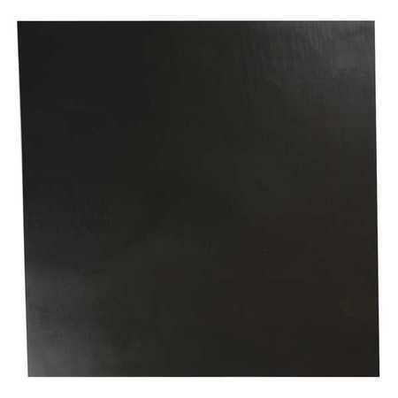 E. JAMES 1/4' Comm. Grade Neoprene Rubber Sheet, 12'x12', Black, 30A, 6030-1/4A
