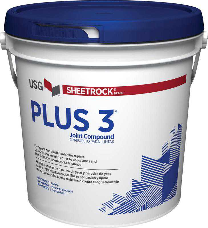 Sheetrock Plus 3 380340045 All Purpose Joint Compound, 3.5 qt. Pail, White to Off-White Solid