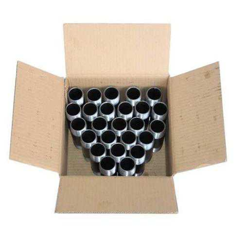 GRAINGER APPROVED 1/8' x 5' NPT Threaded Black Pipe Nipple Sch 40, 1E+186