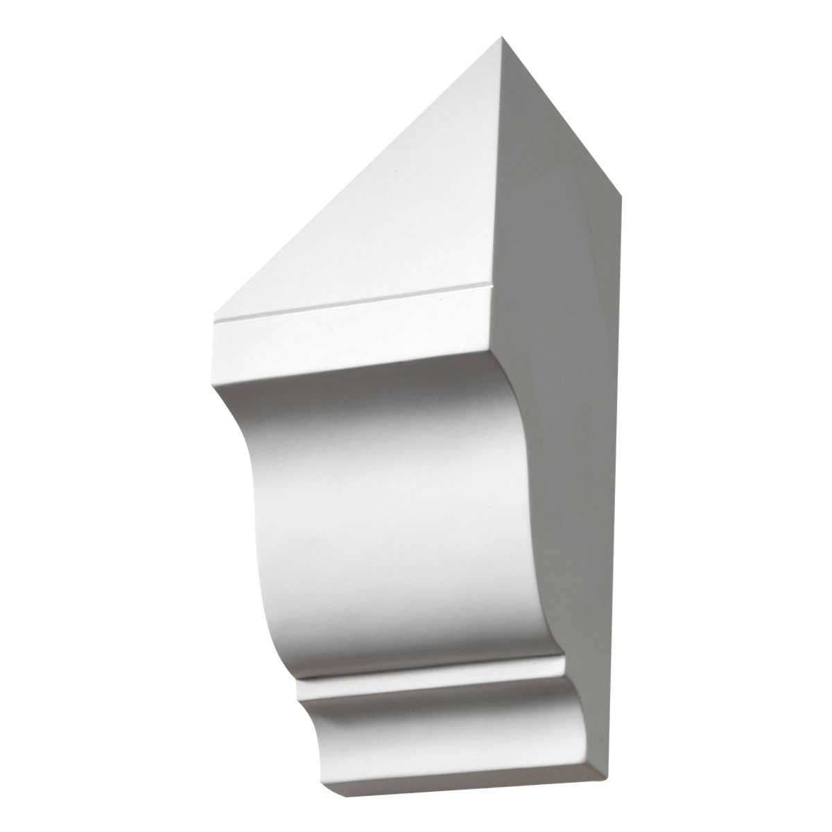 4 3/4'W x 10 15/16'H x 5 1/2'P, Pitch 12/12 Left Pitch Corbel Dentil Block
