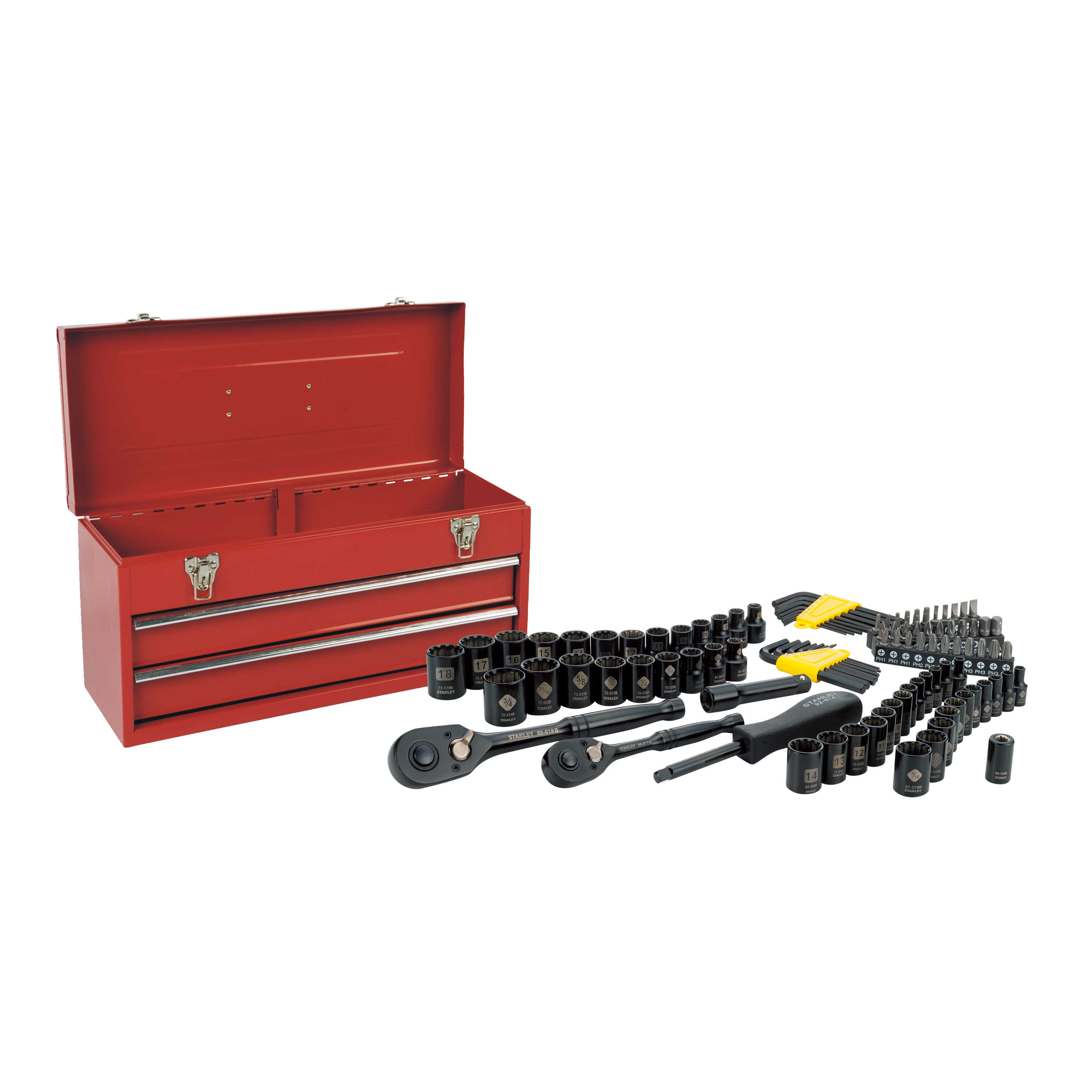 STANLEY 101-Piece Universal Mechanics Tool Set with Metal Tool Box | STMT81564