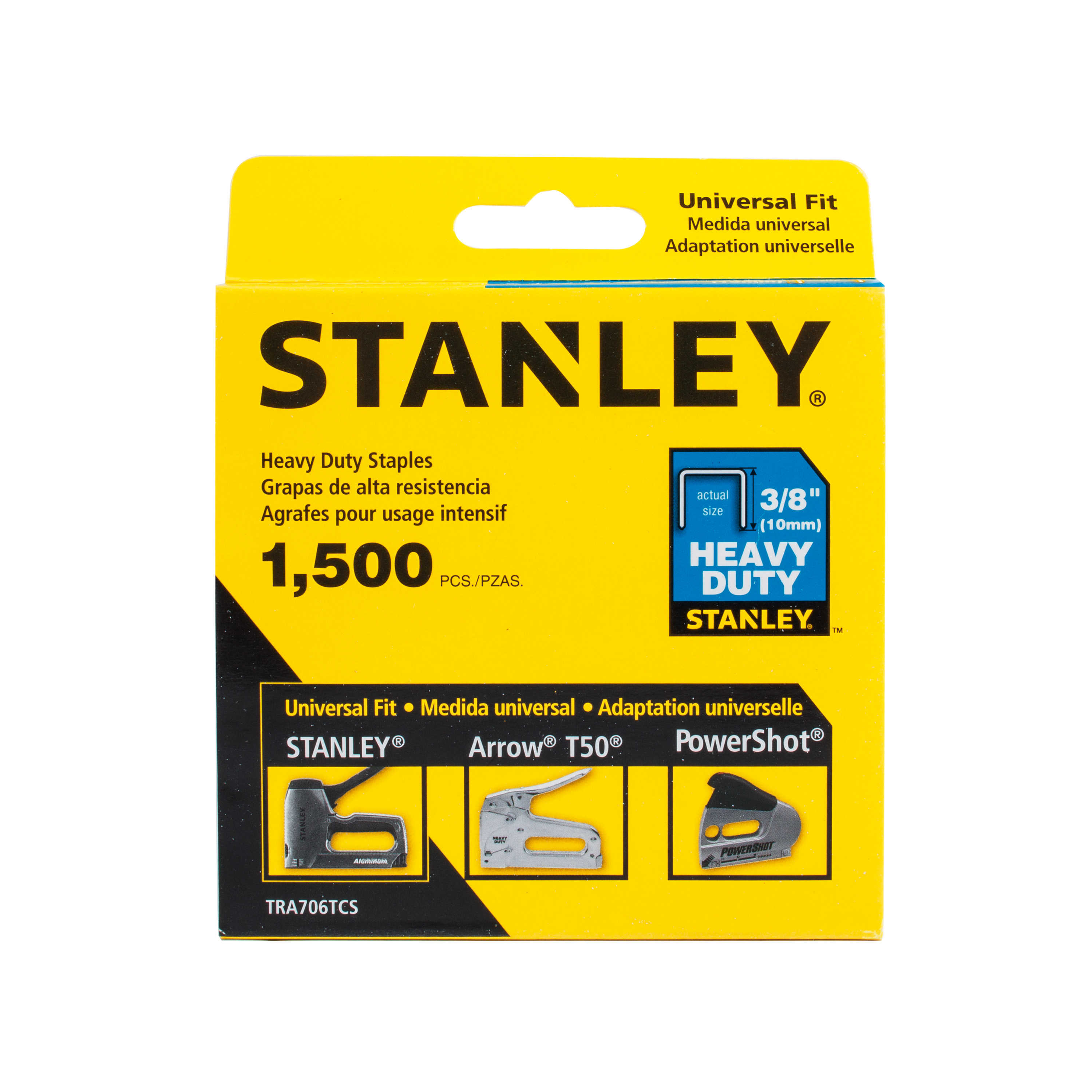 STANLEY TRA706TCS 3/8' Heavy-Duty Staples, 1500 Count