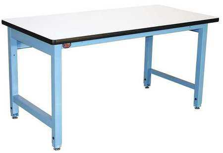 PRO-LINE HD6030C/L14/HDLE Ergo Workbench, Blue, 60Lx30Wx30H In.