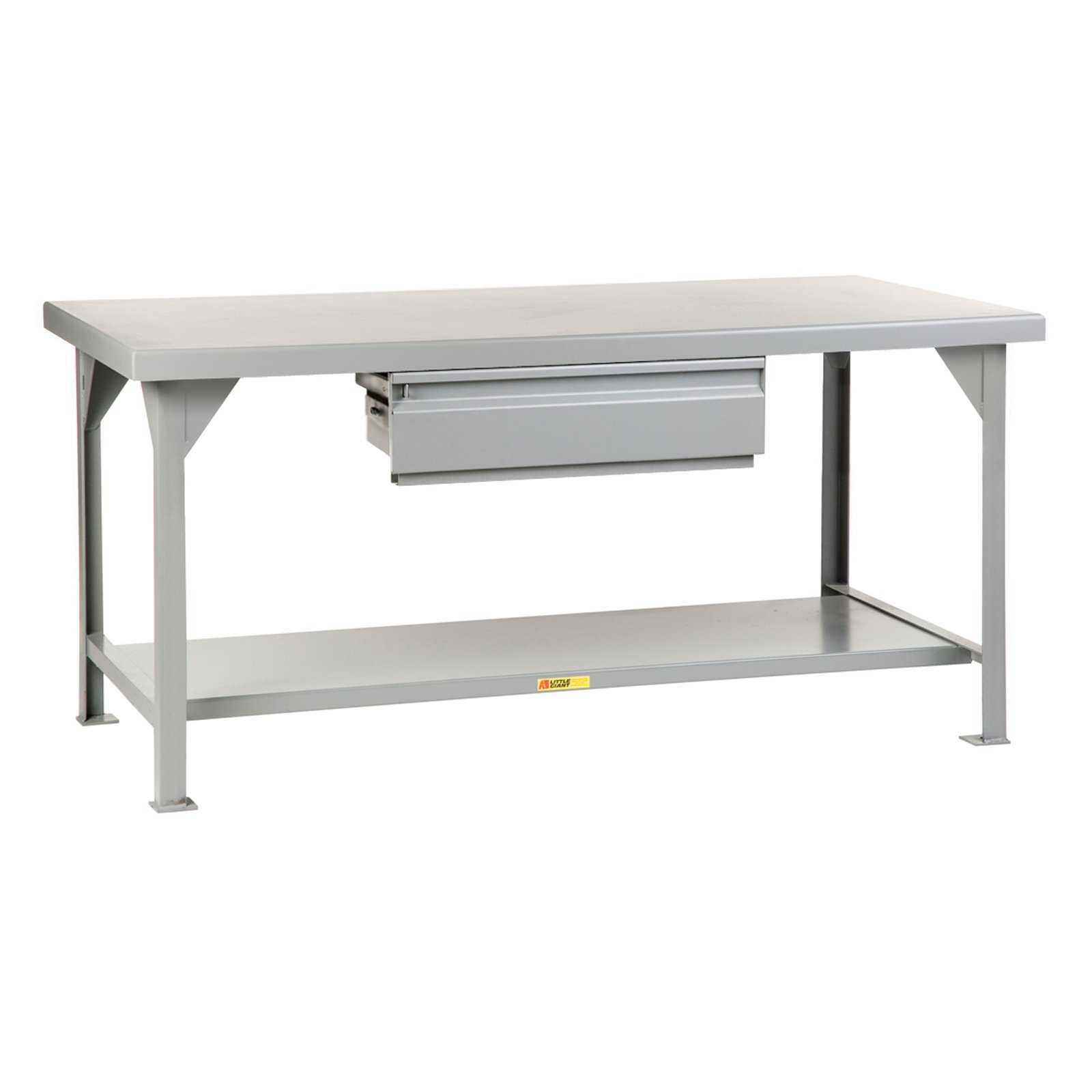 Little Giant Heavy-Duty Workbench with Drawer - Fixed - 30 x 60 in.