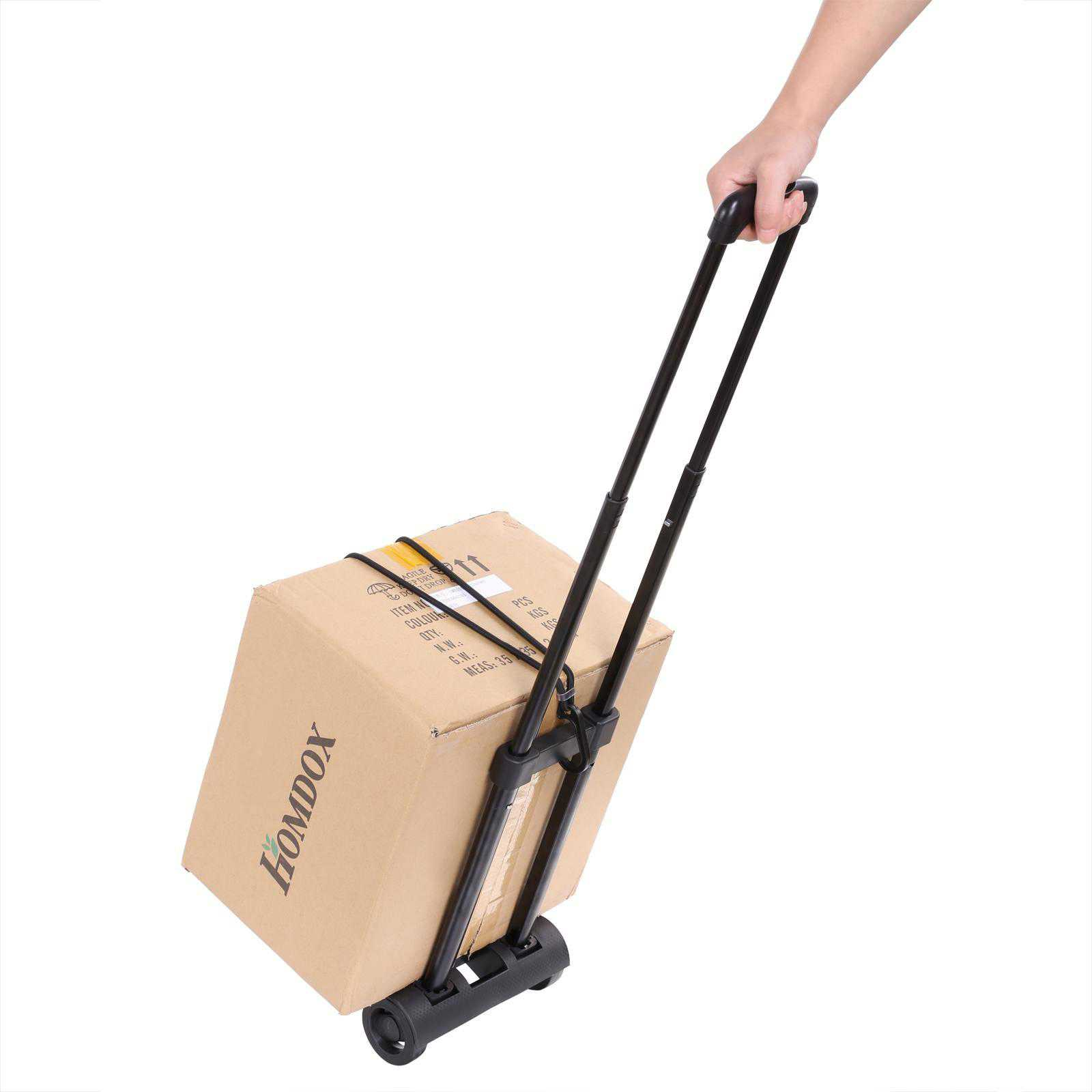 Black Portable Folding Luggage Flatbed Dolly Cart Elec