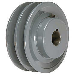 4.45' X 1' Double Groove AK Fixed Bore Pulley # 2AK46X1