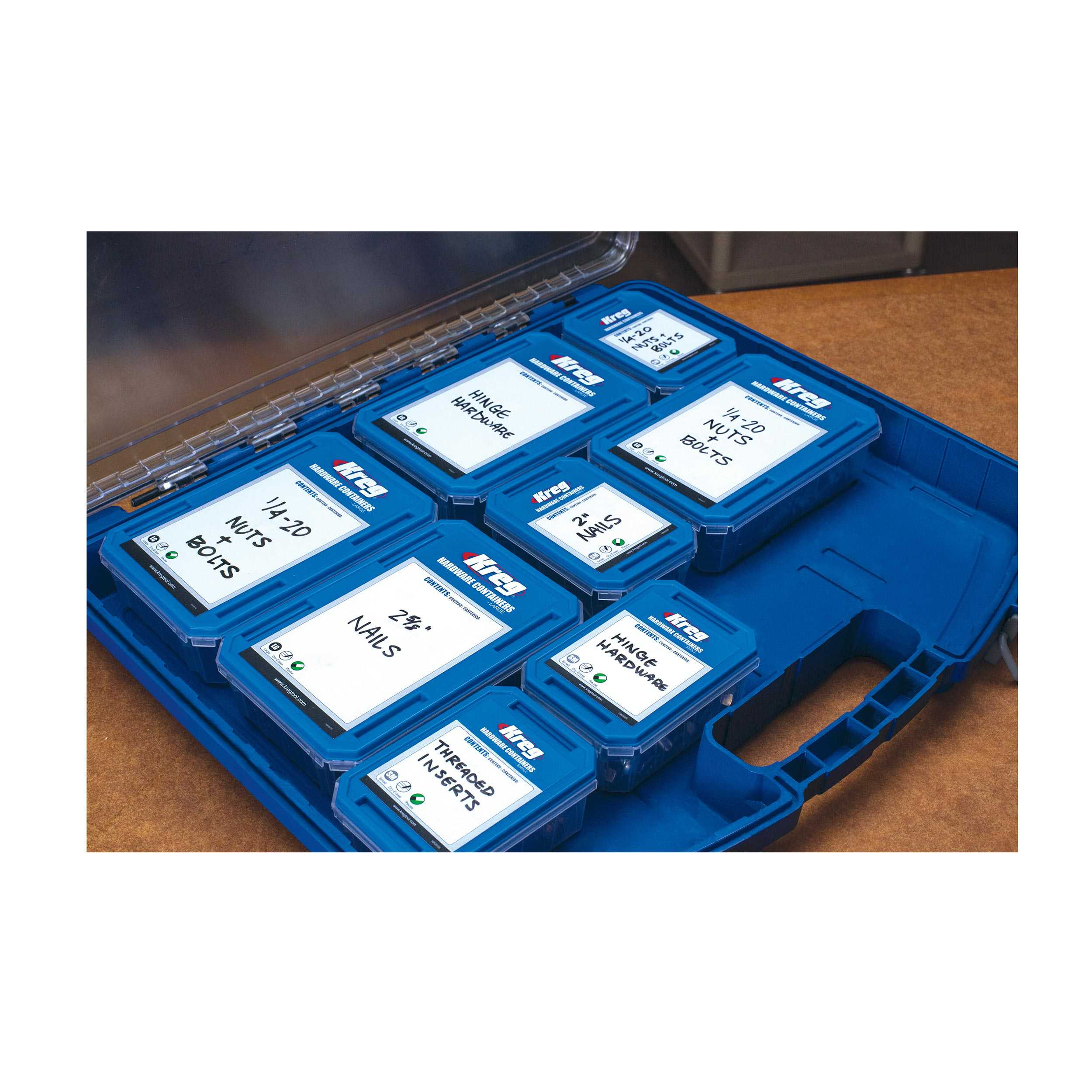 Kreg KSS-L Large Hardware Container (Set of 4)