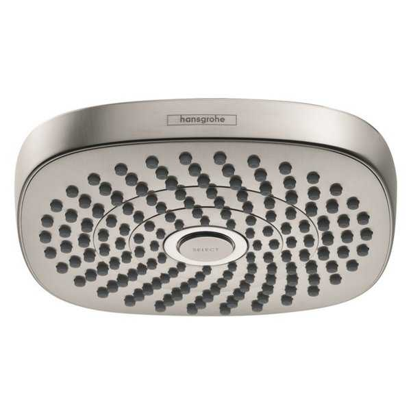 Hansgrohe Croma Select E 180 2-Jet Showerhead in Brushed Nickel