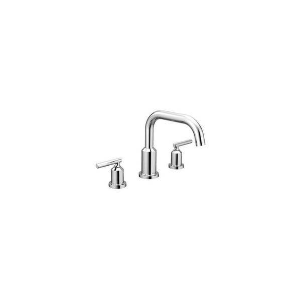 Moen T961 Gibson Widespread Roman Tub Faucet Trim with Two Handles - Less Rough In Valve - Chrome - N/A