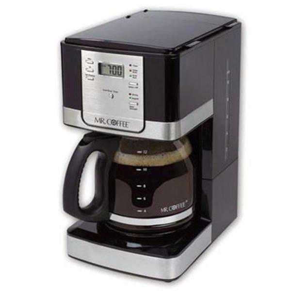 Mr. Coffee Advanced Brew 12-Cup Programmable Coffee Maker, Black/Stainless